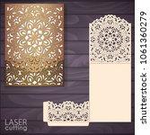 die laser cut wedding... | Shutterstock .eps vector #1061360279