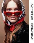 retro style portrait of amazing ...   Shutterstock . vector #1061360699
