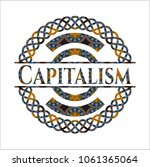 capitalism arabesque emblem... | Shutterstock .eps vector #1061365064