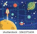 lovely children activity play... | Shutterstock . vector #1061371634