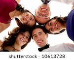 happy group of friends smiling... | Shutterstock . vector #10613728