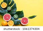 assortment tropical fruits and... | Shutterstock . vector #1061374304