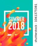 summer 2018 hot colors lava... | Shutterstock .eps vector #1061375381