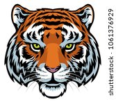tiger head in detailer... | Shutterstock .eps vector #1061376929