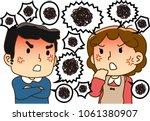 quarrel between husband and wife | Shutterstock .eps vector #1061380907