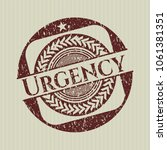 red urgency distress rubber... | Shutterstock .eps vector #1061381351