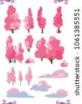 set of cartoon fantasy shape...   Shutterstock .eps vector #1061385551