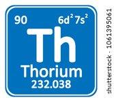 periodic table element thorium... | Shutterstock .eps vector #1061395061