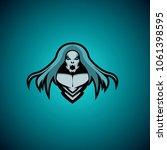 hard music logo design. trendy... | Shutterstock .eps vector #1061398595