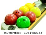 isolated bowling ball on... | Shutterstock . vector #1061400365