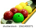 isolated bowling ball on... | Shutterstock . vector #1061400371