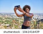 fit african american woman... | Shutterstock . vector #1061416439