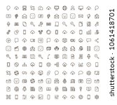 social network icon set.... | Shutterstock .eps vector #1061418701