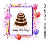 happy birthday design with... | Shutterstock .eps vector #1061421569