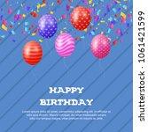 happy birthday celebration... | Shutterstock .eps vector #1061421599