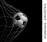 soccer ball in net isolated on... | Shutterstock .eps vector #1061427611