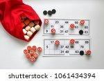 play bingo in the family home | Shutterstock . vector #1061434394