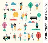 vector illustration in flat... | Shutterstock .eps vector #1061434679