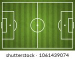 soccer field. vector | Shutterstock .eps vector #1061439074