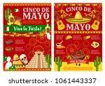 cinco de mayo viva la fiesta... | Shutterstock .eps vector #1061443337