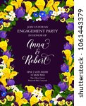 wedding or engagement party... | Shutterstock .eps vector #1061443379