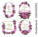 flowers icons for save the date ... | Shutterstock .eps vector #1061443391