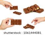 set of milk chocolate bar with...   Shutterstock . vector #1061444081