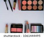 set of decorative cosmetics on...   Shutterstock . vector #1061444495