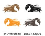 a sketch of a girl with long...   Shutterstock .eps vector #1061452001