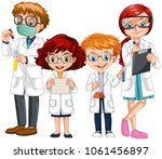 people in science clothes with... | Shutterstock .eps vector #1061456897