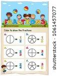 math worksheet template for... | Shutterstock .eps vector #1061457077