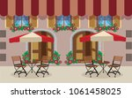 outdoor cafe classic | Shutterstock .eps vector #1061458025