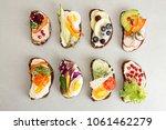 healthy breakfast toasts with...   Shutterstock . vector #1061462279