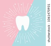 healthy tooth icon. round line... | Shutterstock .eps vector #1061470931