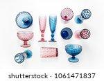 colored vintage goblets | Shutterstock . vector #1061471837