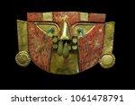 golden mask of the peruvian...