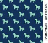 seamless pattern  horse art ...   Shutterstock .eps vector #1061485121