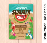 on the beach summer party... | Shutterstock .eps vector #1061495771
