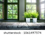 table background and spring... | Shutterstock . vector #1061497574