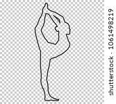outline figure woman doing... | Shutterstock .eps vector #1061498219