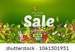 welcome spring sale banner... | Shutterstock .eps vector #1061501951
