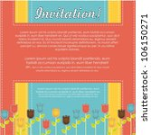 invitation card with colorful... | Shutterstock .eps vector #106150271