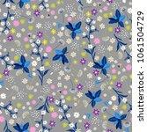 pastel liberty flower seamless... | Shutterstock .eps vector #1061504729