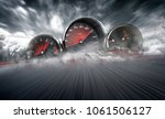 speedometer scoring high speed... | Shutterstock . vector #1061506127