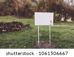 old sign in the park | Shutterstock . vector #1061506667