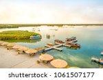 autumn scenery of bosten lake...   Shutterstock . vector #1061507177