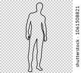 outline figure naked man full... | Shutterstock .eps vector #1061508821