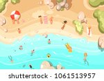 summer sandy beach with... | Shutterstock .eps vector #1061513957