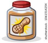 jar of peanut butter cartoon... | Shutterstock .eps vector #1061514254