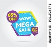 sale for super sale  mega sale  ... | Shutterstock .eps vector #1061526971